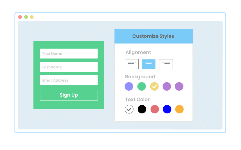Customize hosted forms